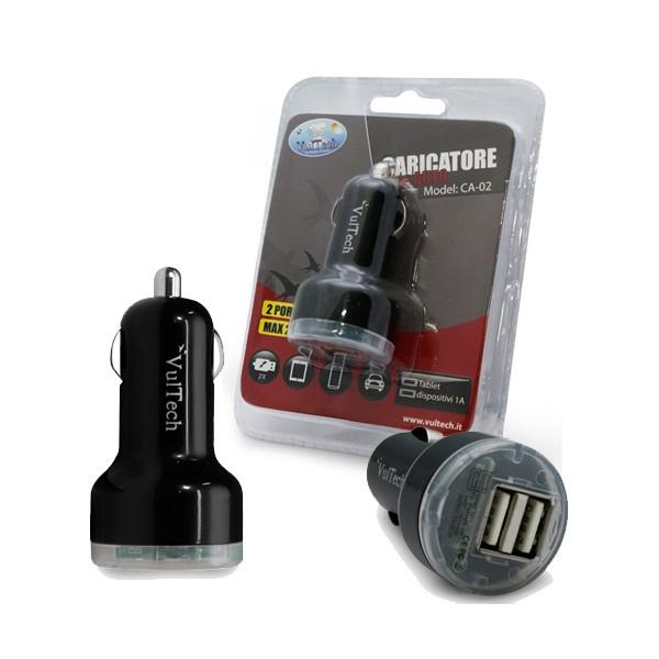 Caricatore Da Auto doppia uscita USB Vultech CA-02
